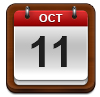 Calendar showing October 11