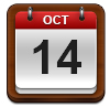 Calendar showing October 14