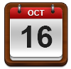 Calendar showing October 16