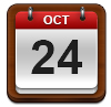 Calendar showing October 24