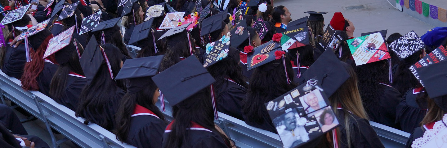 Students at the Chicano/Latino Commencement